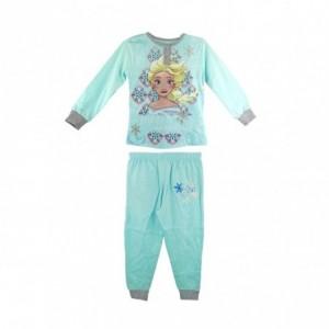 22-2281 Pyjama enfant imprimé La Reine des neiges manches longues de 3 à 7 ans