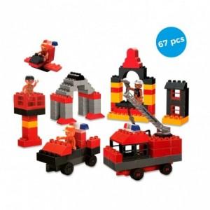 339534 Playset de briques de construction VIGILI DEL FUOCO 67 éléments CIGIOKI