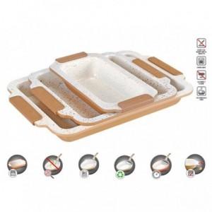 Pack de 3 moules / plats four - RL-MCC3A revêtement antiadhésif céramique