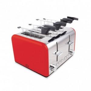 TA8660 Grille-pain électrique DCG en acier 4 fentes fonction décongélation