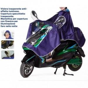 Veste imperméable pour la pluie moto et vélo unisexe avec visière réfléchissante