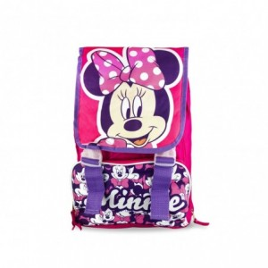 21-1417 Cartable extensible pour enfant en maternelle Minnie avec poche frontale