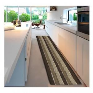 184035 Tapis mod. STRIPES 50x180 cm 100% coton idéal salle de bain et cuisine