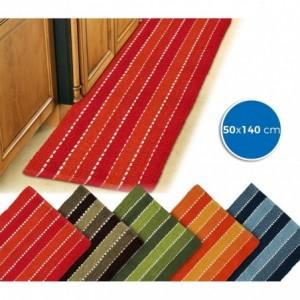 184028 Tapis mod. STRIPES 50 x 140 cm 100% coton idéal salle de bain et cuisine