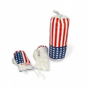484005 Set de boxe pour enfants AMERICA FIGHT sac et gants