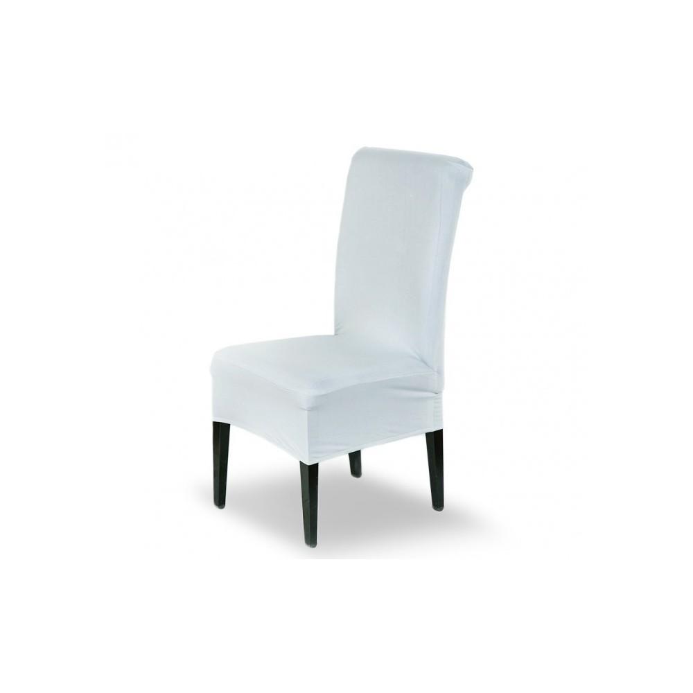 4701 set de 4 housses de chaise en tissu lastique id al pour cuisine - Housses de chaises en tissu ...