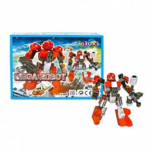 3017-5 Playset de briques de construction MEGAROBOT 2 en 1 CIGIOKI 96 pièces
