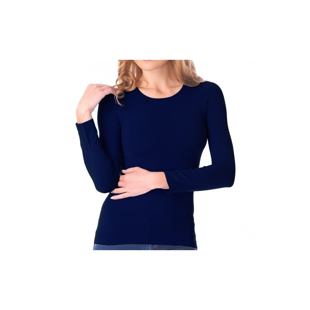 VKA20 Sous-pull Lisa manches longues col rond femme slim fit effet thermique