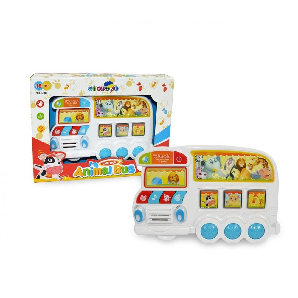 250778 jeu ducatif pour enfant animal bus interactif avec bruits des. Black Bedroom Furniture Sets. Home Design Ideas