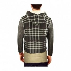 AZS 87330 Veste pour homme modèle BRICKS avec capuche et deux poches devant