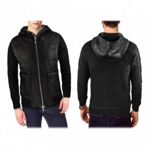 AZS 87377 Veste pour homme modèle BELFAST avec capuche et deux poches devant