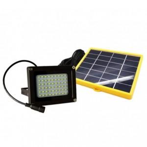 Projecteur LED d'extérieur 10W 370 lumen panneau photovoltaïque lumière froide