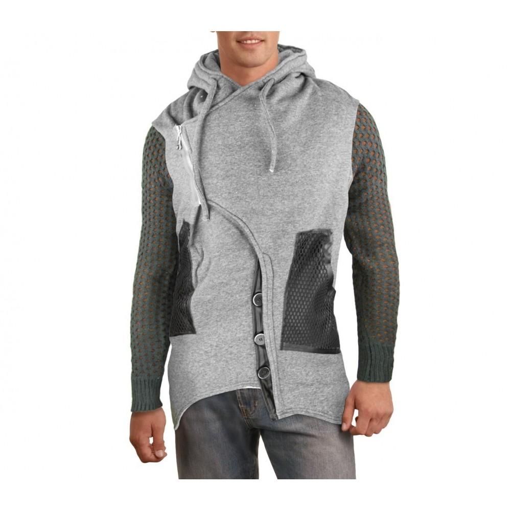 87329 veste pour homme mod le sedrik coupe asym trique d tails sur man. Black Bedroom Furniture Sets. Home Design Ideas