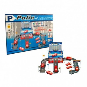 358597 Parc de stationnement de la police CIGIOKI avec voitures incluses