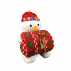 06581 Set de peluche et couverture polaire thème de Noël différents modèles