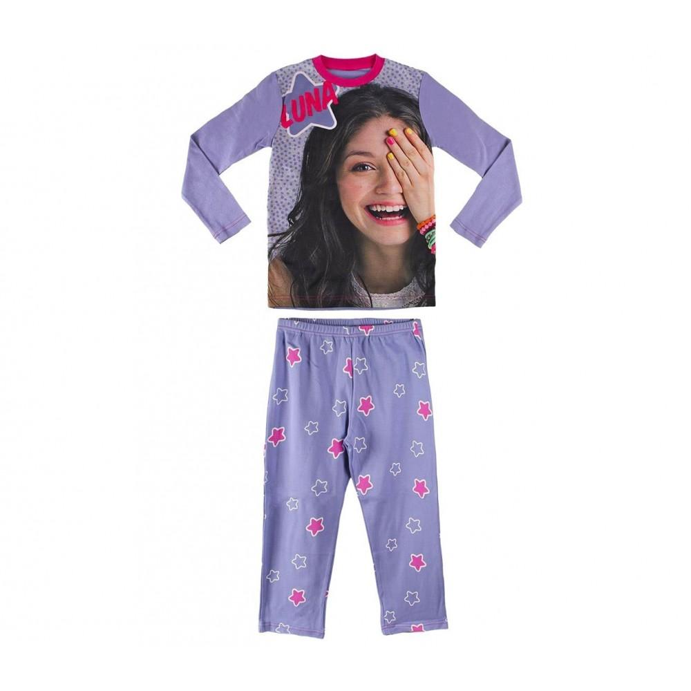 ec861b537ff1b 22-1722 Pyjama enfant imprimé Soy Luna Disney en 100 % coton de 6 à 12