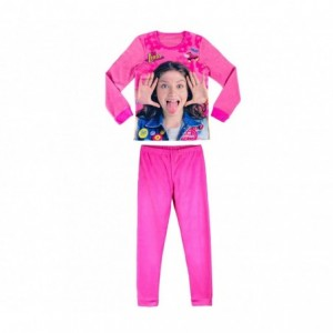 22-1733 Pyjama enfant Disney imprimé Soy Luna en polaire de 6 à 12 ans