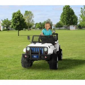 Voiture électrique LT863pour enfant JEEP SPORT 4 roues motrices siège en cuir