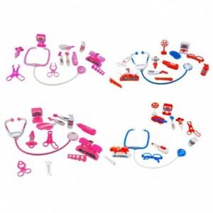 4676 Playset docteur avec 13 accessoires jeu éducatif en quatre variantes