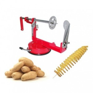 Coupe pomme de terre en spirale - manuel - acier inoxydable