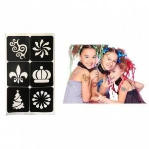 341049 Kit tatouages or métallique semi-permanents tatou amovibles