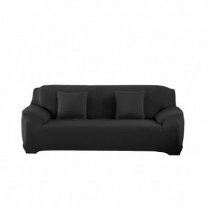 4353 Housse de canapé 3 places couleur unie tissu élastique facile à enfiler