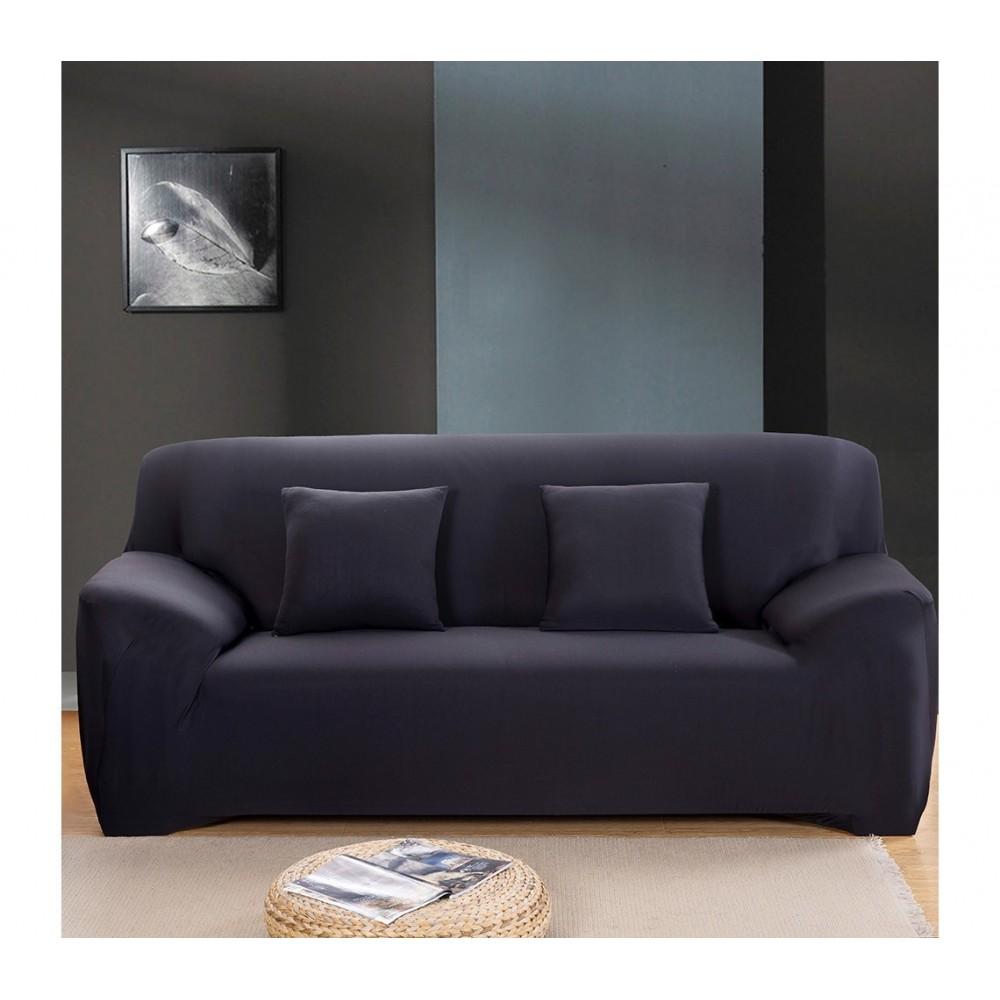 4352 housse de canap 2 places couleur unie tissu. Black Bedroom Furniture Sets. Home Design Ideas