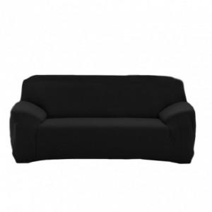 4352 Housse de canapé 2 places couleur unie tissu élastique facile à enfiler