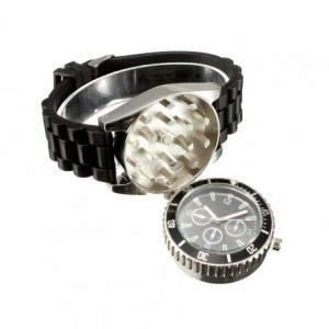4483 Montre GRINDER avec broyeur à tabac et bracelet en silicone