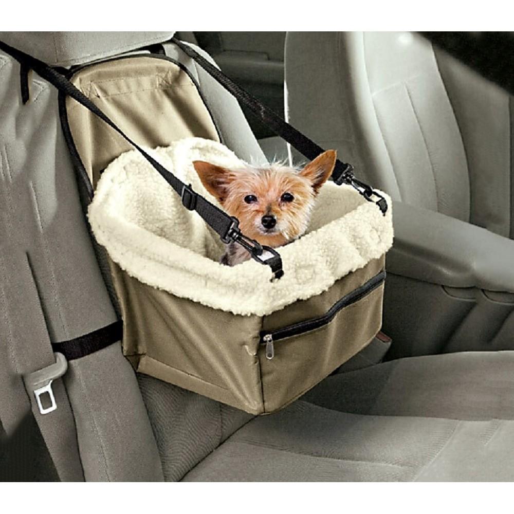 4478 panier de voiture sur lev pour chien confortable avec ceinture d. Black Bedroom Furniture Sets. Home Design Ideas