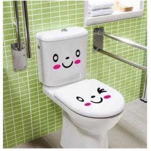 Sticker de sourire autocollants - décorer la maison porte du réfrigérateur - wc