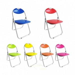 Set de 4 chaises pliantes vestiamo casa dossier assise rembourr s - Casa chaise de jardin ...