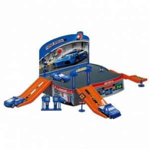 121836 Playset station de police avec un hélicoptère et des véhicules