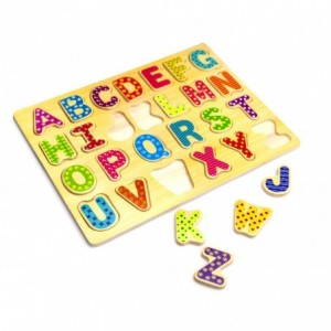 404767 Puzzle en bois LETTRES ou CHIFFRES jeu éducatif 20 x 31 x 23 cm