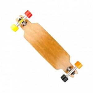 515579 Skate Longboard SKULL ABEC-9 truck en aluminium 115 x 23 cm roues 70 mm
