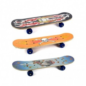 122655 Skate Longboard SKULL ABEC-9 truck en aluminium 115 x 23 cm roues 70 mm