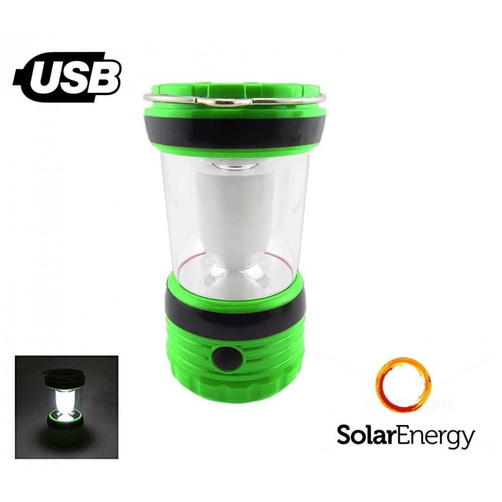 lanterne lampe de poche led aliment par l 39 nergie solaire avec usb. Black Bedroom Furniture Sets. Home Design Ideas