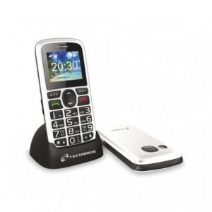 MS-301 Téléphone portable pour personnes âgées Techmade blanc avec bouton SOS