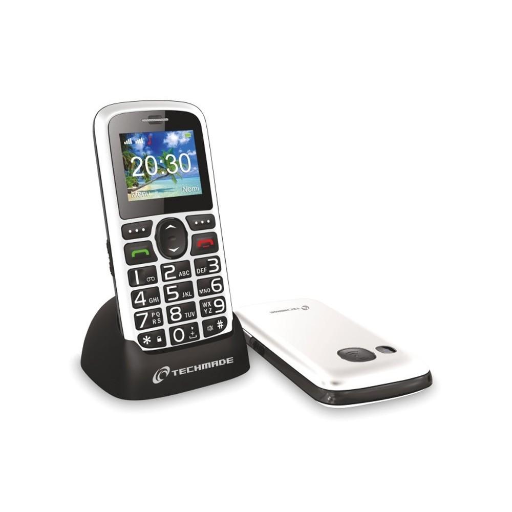 tm c08bk t l phone portable pour personnes g es techmade. Black Bedroom Furniture Sets. Home Design Ideas