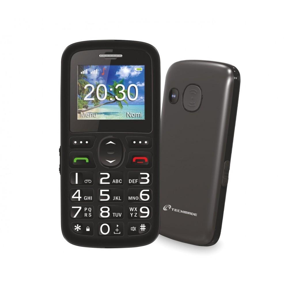 tm c08bk t l phone portable pour personnes g es techmade bouton sos a. Black Bedroom Furniture Sets. Home Design Ideas