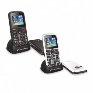 TM-C08BK Téléphone portable pour personnes âgées Techmade bouton SOS avec base