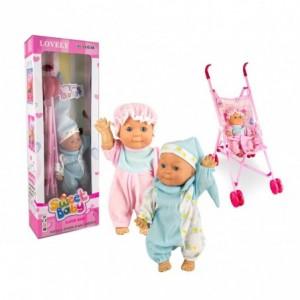 981012 Poussette pour poupée CIGIOKI pliable avec capote 36 x 25 x 53 cm