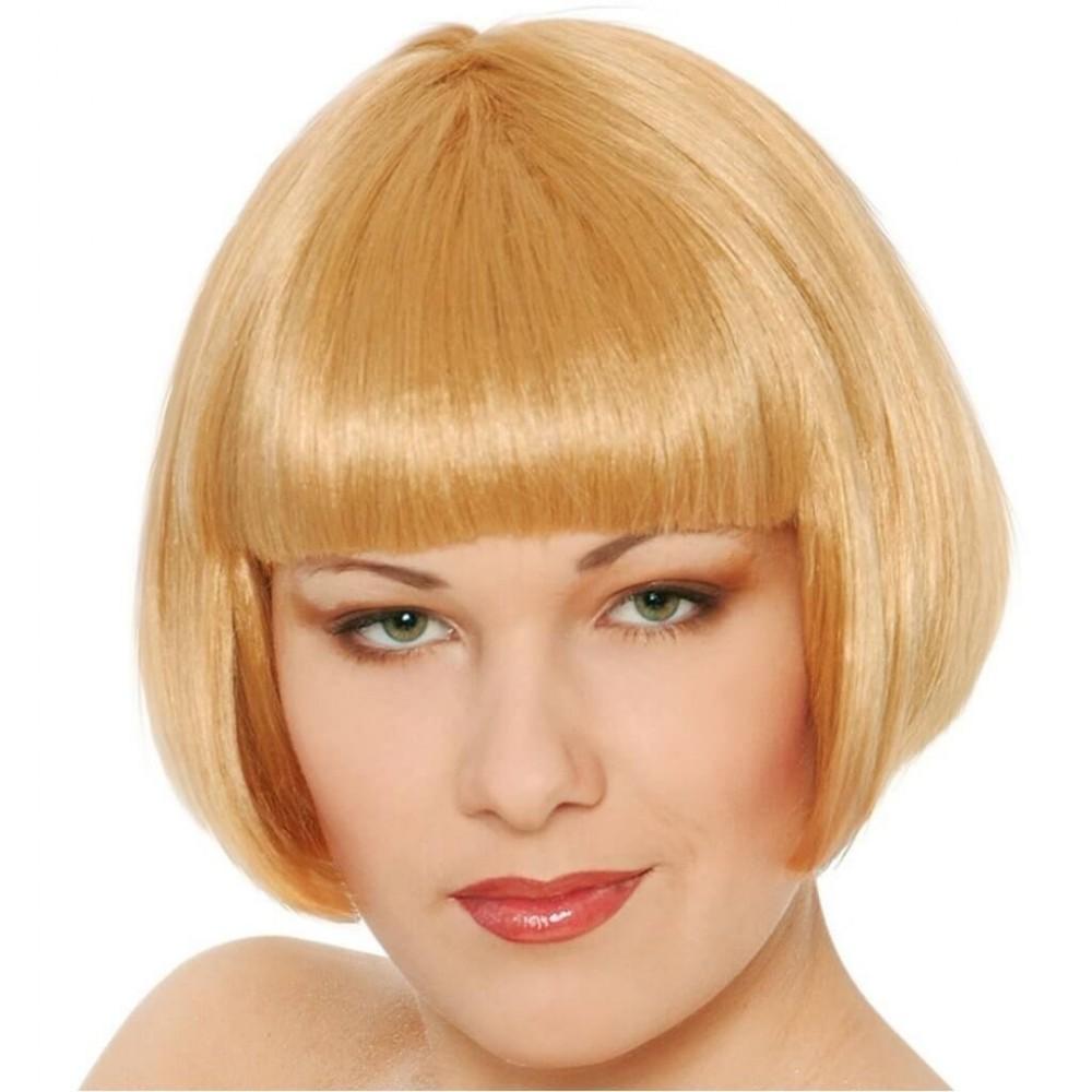 444263 Perruque Blonde Carré Plongeant idéal pour carnaval et soirées