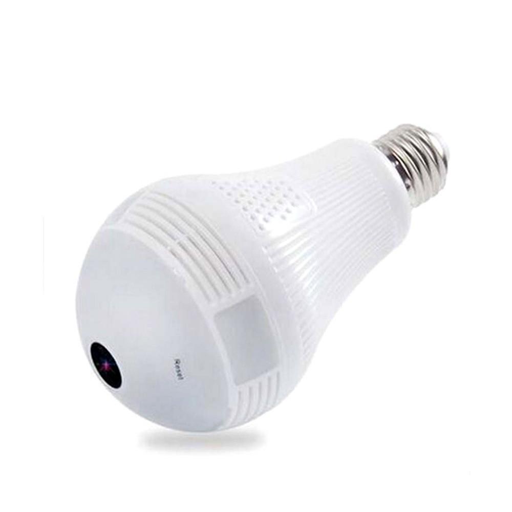 768881 Caméra de surveillance Wi-Fi ampoule E27 panoramique 360 ° 3D HD