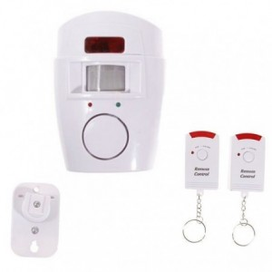 Alarme antivol - sirène - Capteurs de 105db - deux contrôleurs