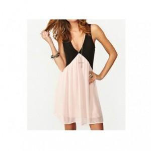 Robe femme noire et rose / Mod LIBERTY