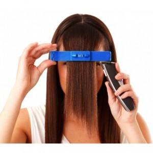 4329 Set de 2 barrettes avec niveau à bulle pour couper cheveux de façon précise