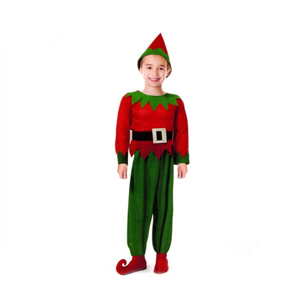 538087 Déguisement de carnaval LUTIN pour enfant avec bonnet
