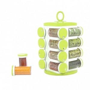 Carrousel à épices tournant 16 pots pop-up SPICE RACK rangement porte-épices