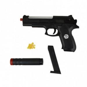 285589 Pistolet en plastique Sport Gun HY-730A avec silencieux 6 mm avec billes